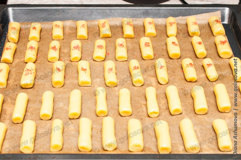 домашнее песочное печенье на маргарине на противне