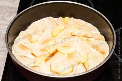 рецепт шарлотки яблочная с корицей