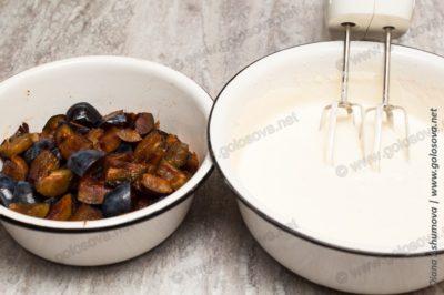 шарлотка со сливами рецепт в духовке