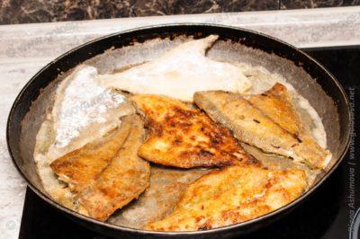 камбала жареная на сковороде в муке