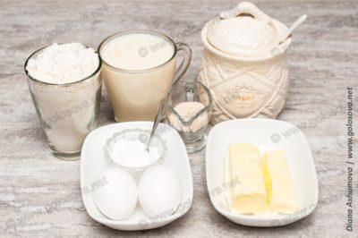 продукты для теста на пирожки