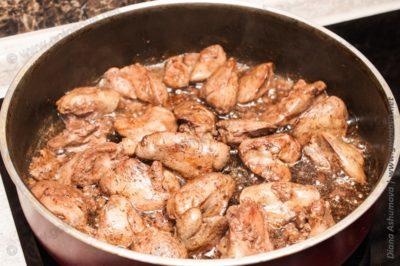 обжареная куриная печень