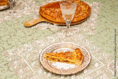 пирог с белым вином