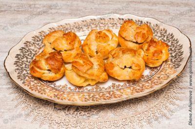 закусочные профитроли на праздничный стол с грибами