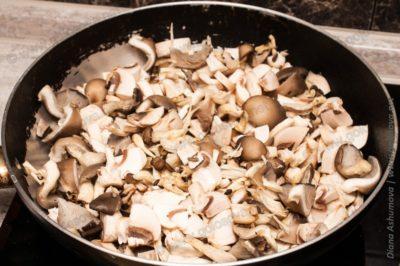 грибы на сухой сковороде