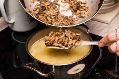 пассерованные грибы в похлебку